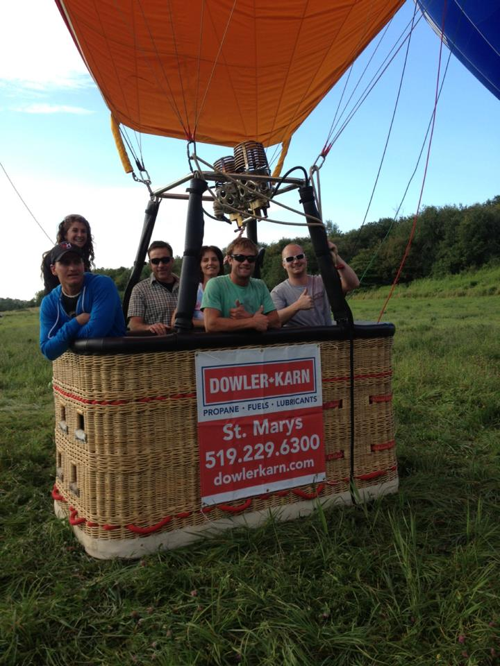 New balloon basket ready for take off!